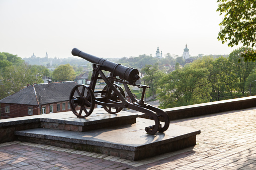 istock Old cast-iron cannon in Chernihiv, Ukraine 939758108