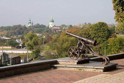istock Old cast-iron cannon in Chernihiv, Ukraine 939759040