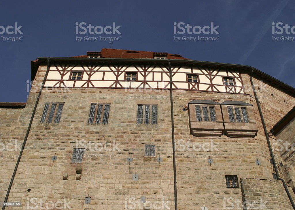 old castle facade royalty-free stock photo