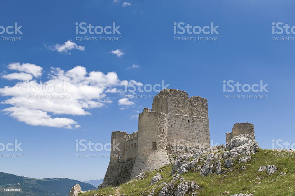 old castle in italy royalty-free stock photo