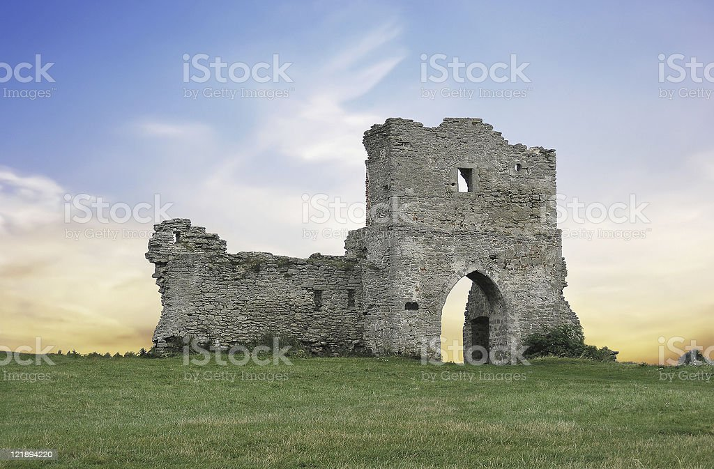 Old castle in Kamyanets (Ukraine) royalty-free stock photo