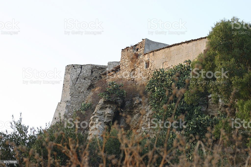 old castle in sicily royalty-free stock photo