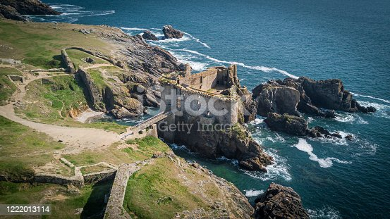 The ruins of the old castle in Yeu island, French west coast which might inspired Hergé to think about Tintin and the black island