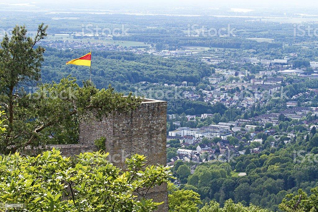 Old Castle ruins, Baden-Baden, Germany stock photo