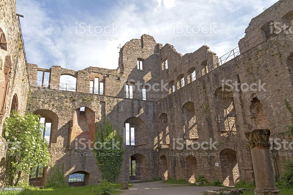 Old Castle ruins, Baden-Baden, Germany stock photo