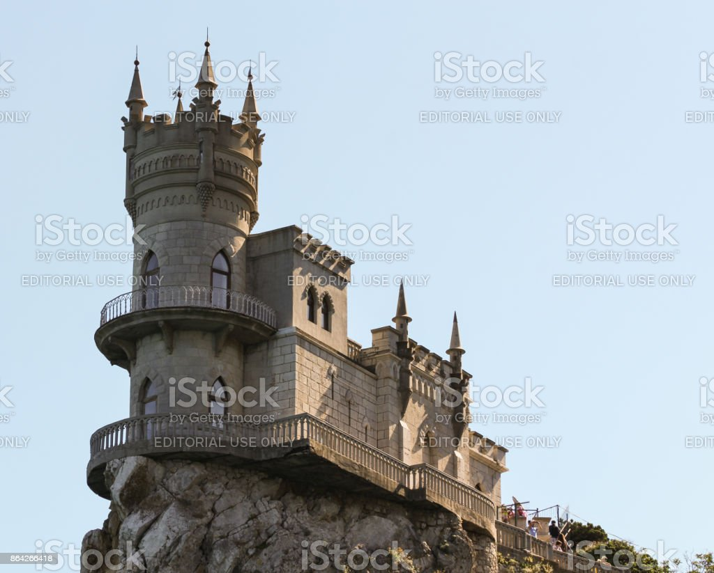 Old Castle Swallow Nest. royalty-free stock photo
