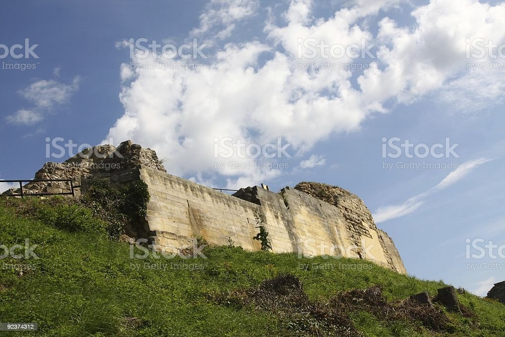 Old castle wall royalty-free stock photo
