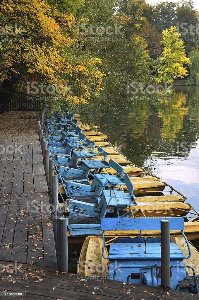 Old Catamarans royalty-free stock photo
