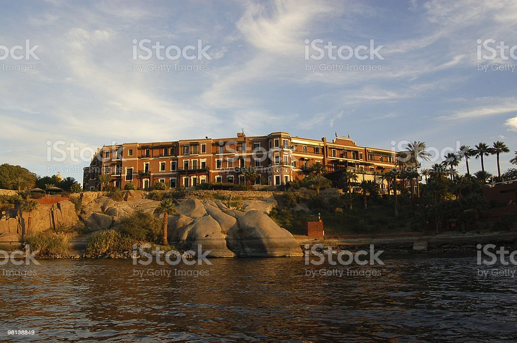 Old Cataract Hotel, Aswan royalty-free stock photo