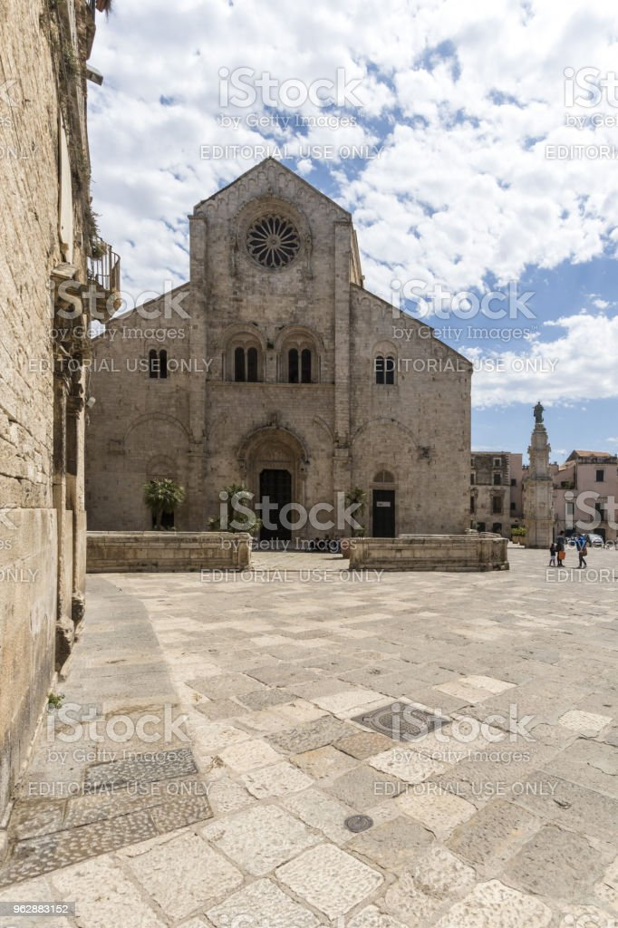 Old cathedral in Bitonto Italy stock photo