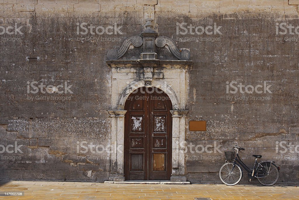 Old cathedral's wall royalty-free stock photo