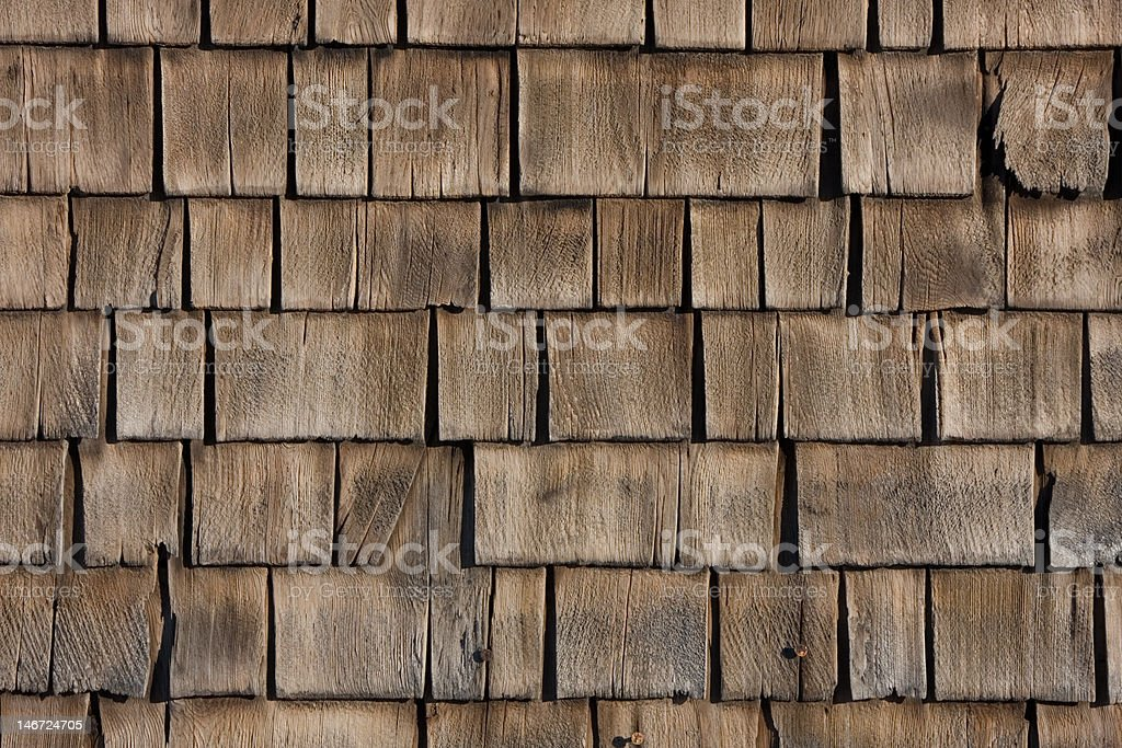 Old Cedar Shake Clapboard Background stock photo