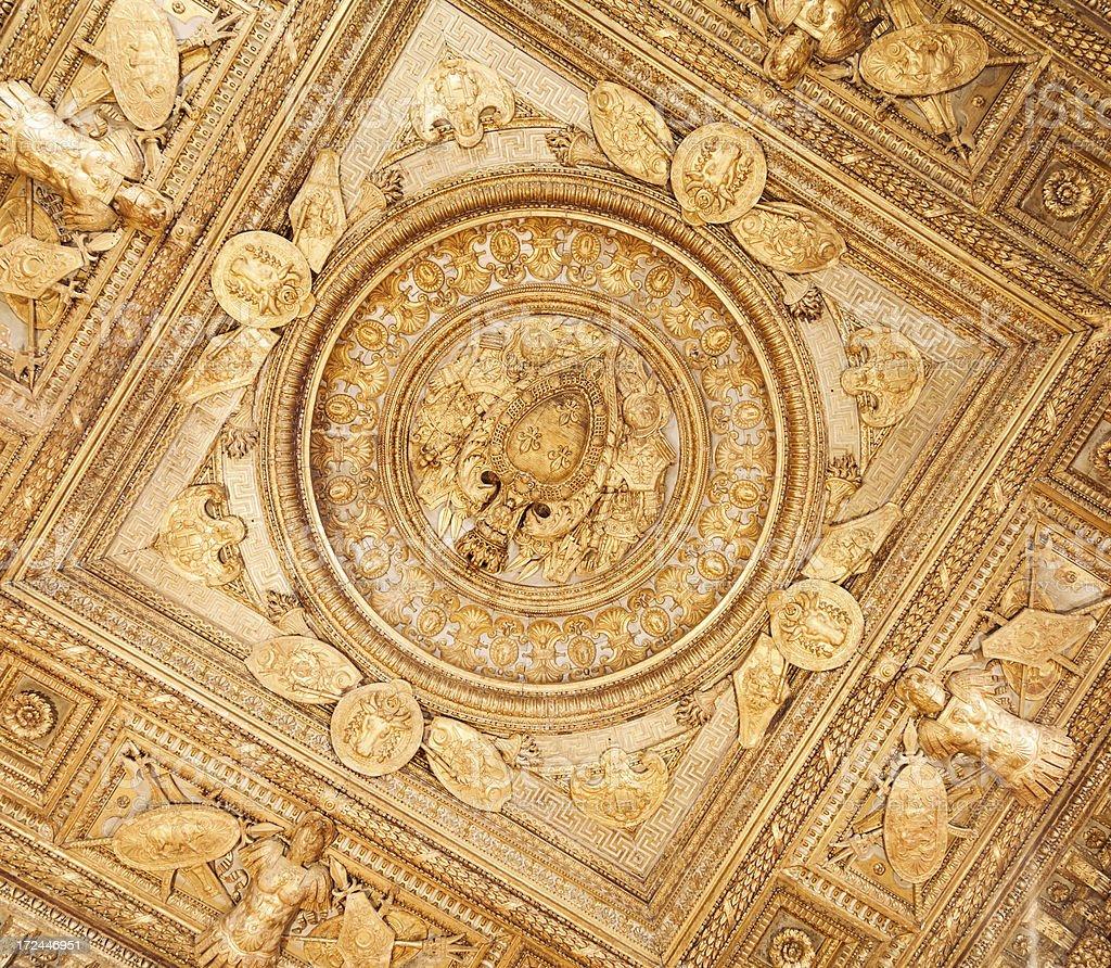 Old Ceiling Decoration royalty-free stock photo