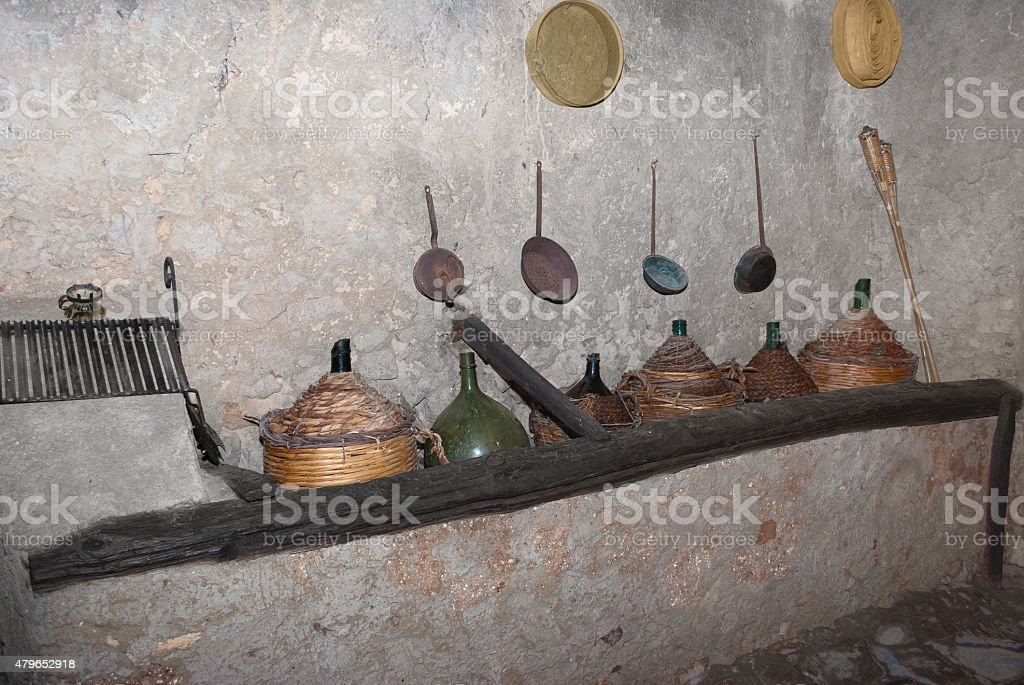 Old cellar stock photo