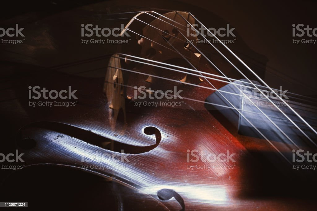Old Cello Abstract stock photo