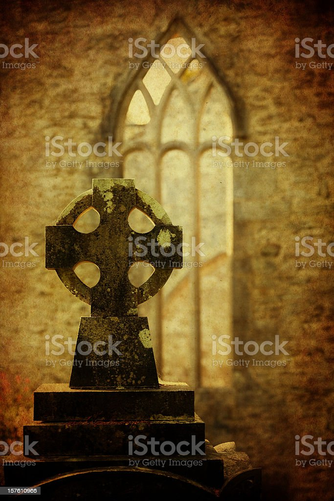 old celtic cross stock photo