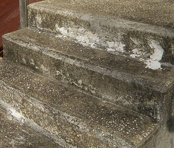 Old Cement Stairs stock photo