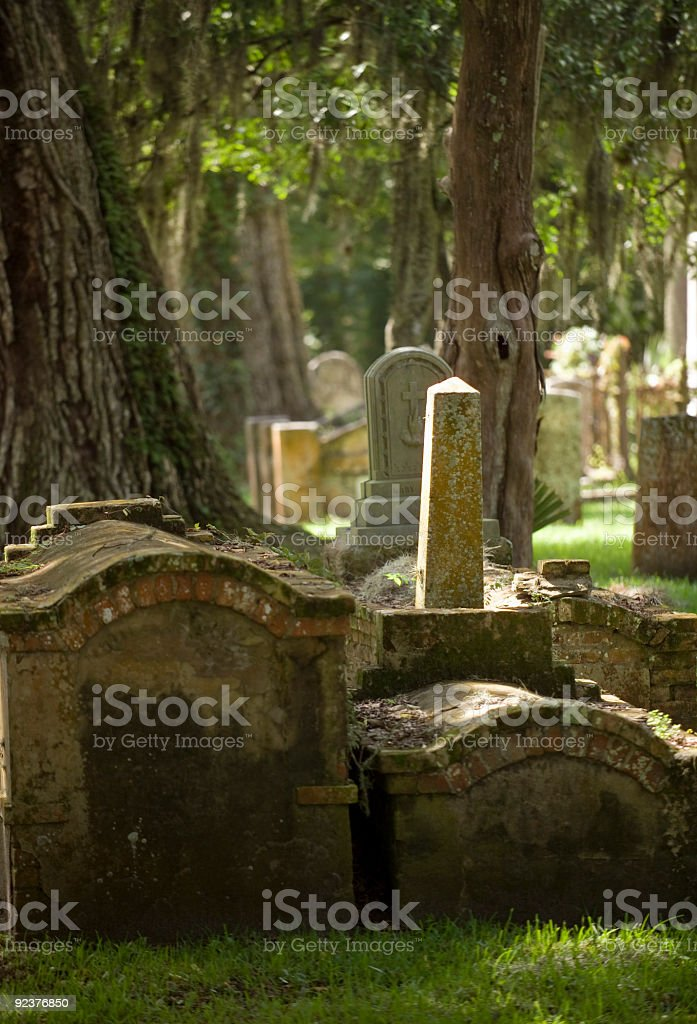 Old Cemetary in St Augustine Called Garden of the Dead royalty-free stock photo