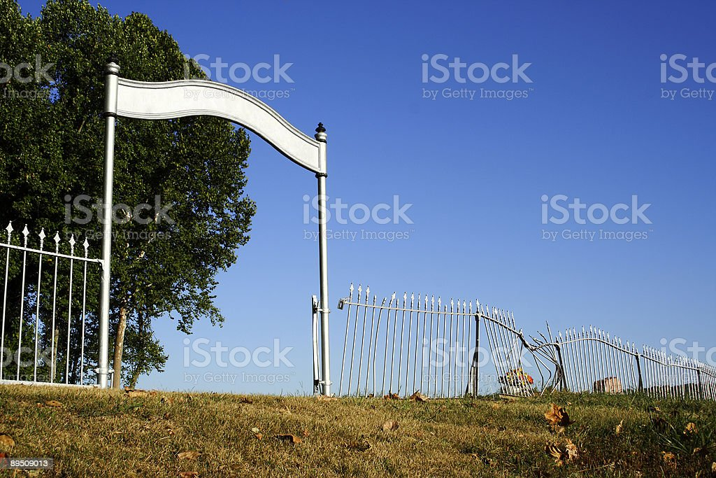 Old Cemetery Gate royalty-free stock photo