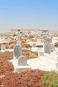 Mahdia, Tunisia - August 16, 2007: Old cemetery in Mahdia