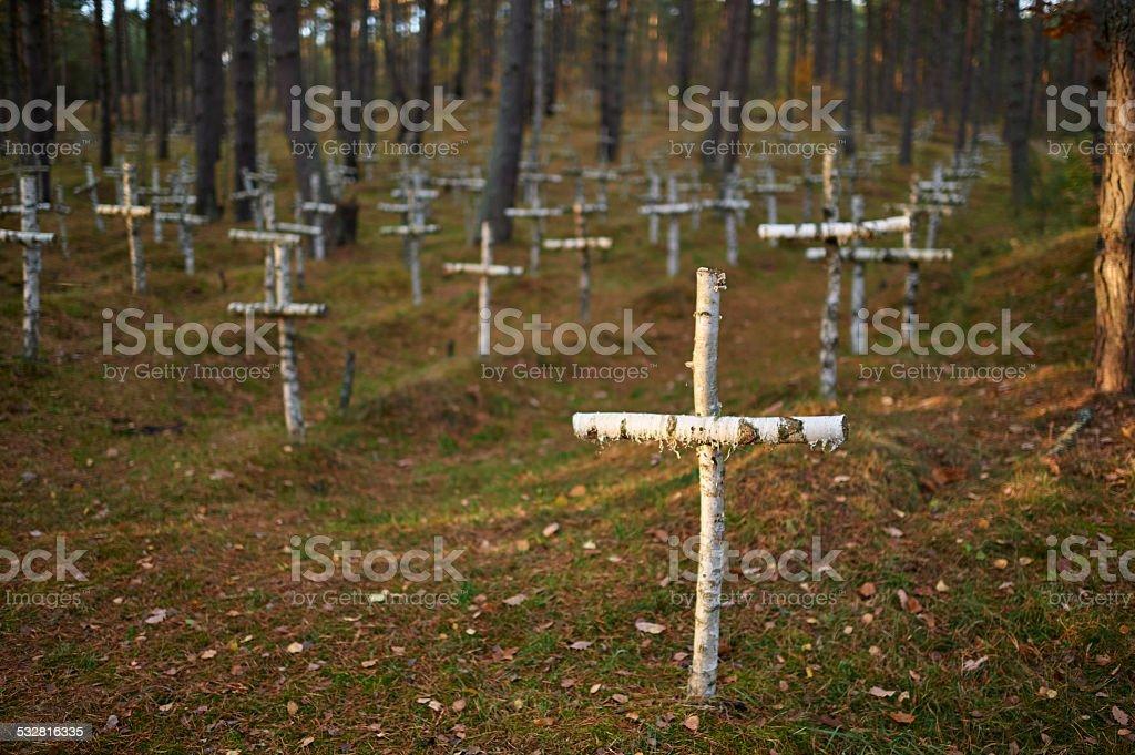 old cemetery stock photo