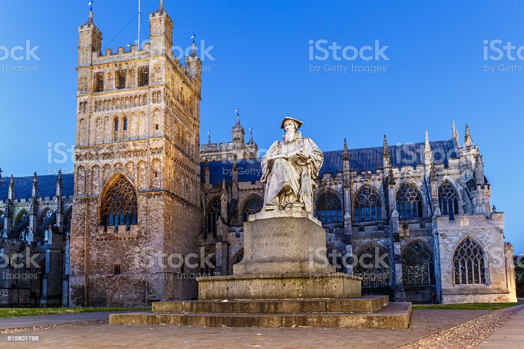 Old center of Exeter (Devon) stock photo