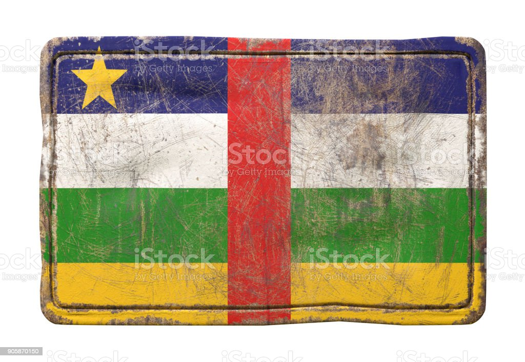 Old Central African Republic flag stock photo