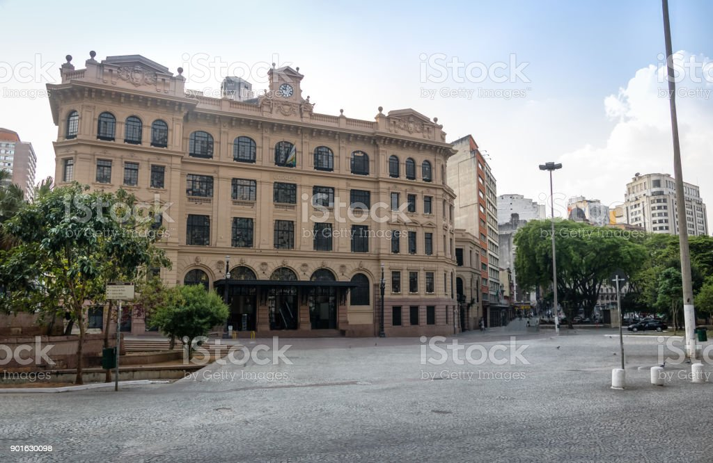 Old Central Post Office Building - Sao Paulo, Brazil stock photo