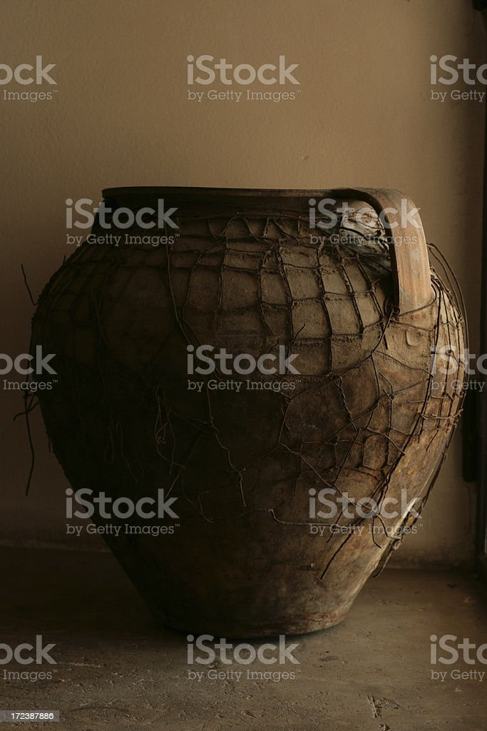 old ceramic pot royalty-free stock photo