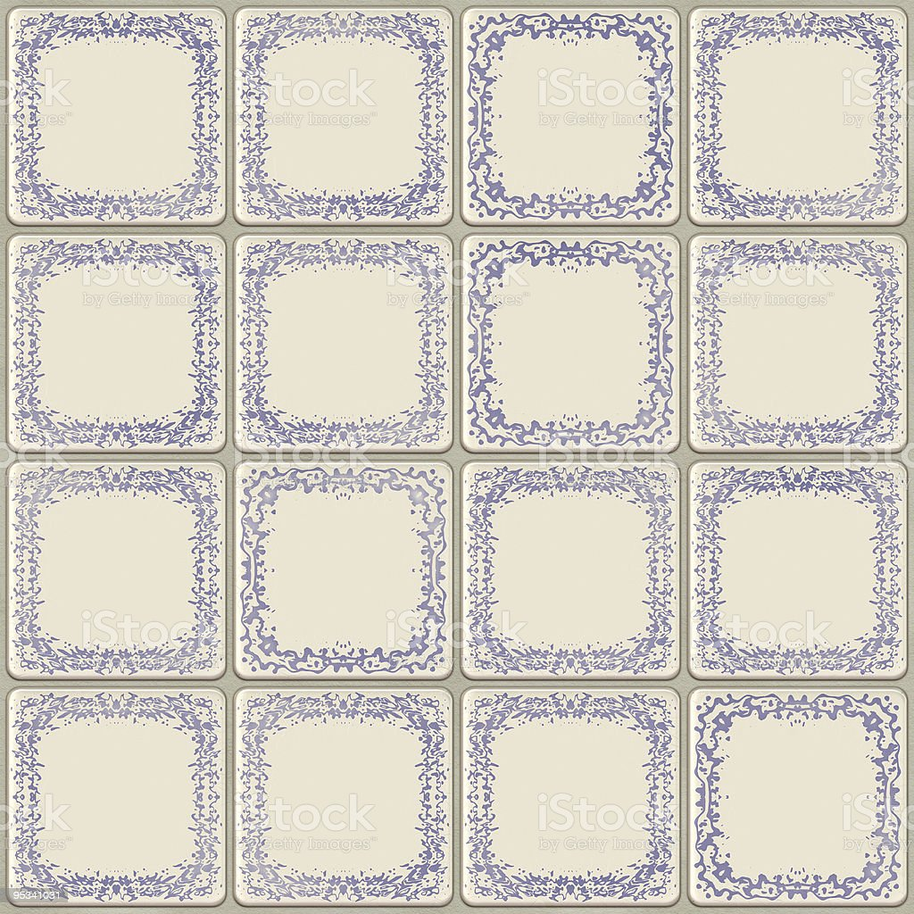 Old ceramic tile royalty-free stock photo