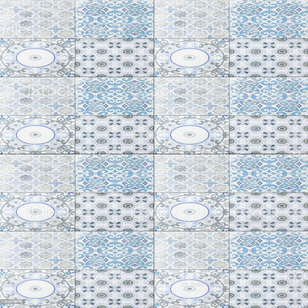 Old Ceramic Tile Wall Patterns In The Park Public Stock Photo & More ...