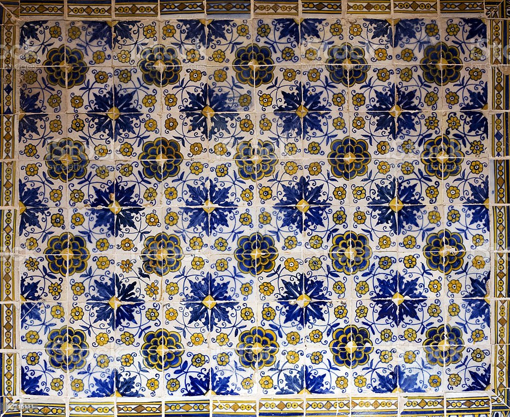 Old ceramic tiles - Azulejos Spain royalty-free stock photo