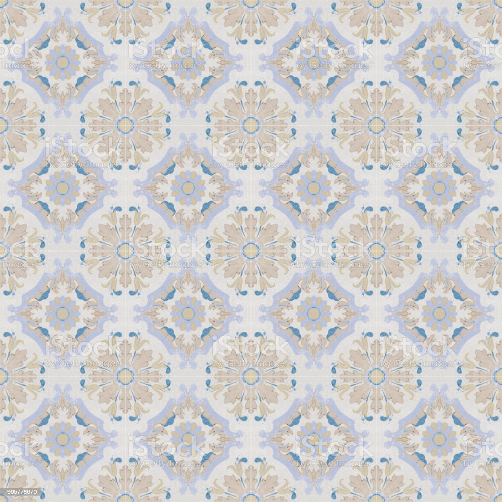Old ceramic tiles patterns background in the park public - Royalty-free Abstract Stock Photo