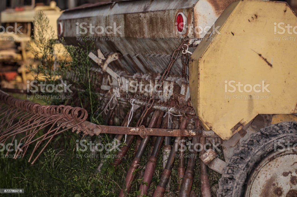 old Cereal grader stock photo