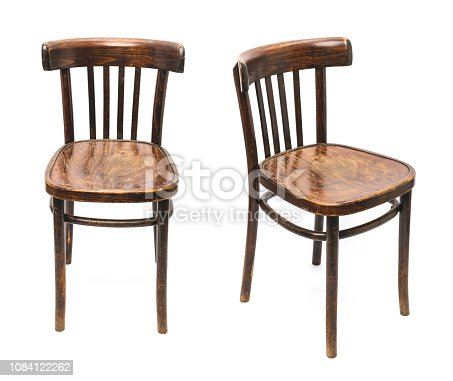 Isolated old chairs
