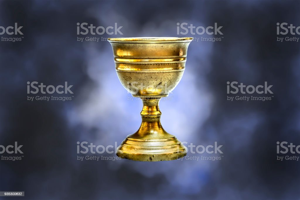 Old chalice stock photo
