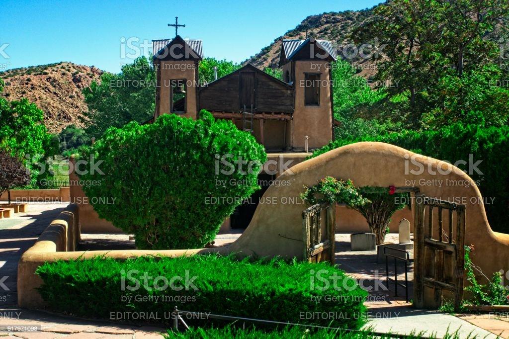 Old Chapel ar Santuario de Chimayo stock photo
