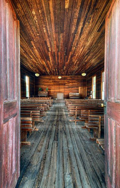 Old Chapel Interior stock photo