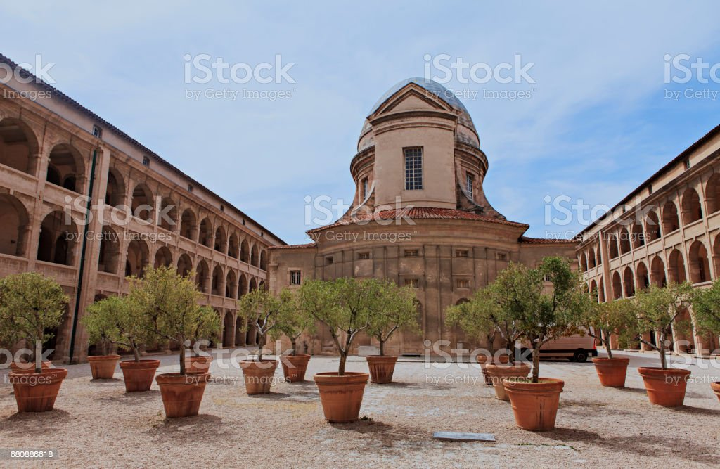 old charity in marseille royalty-free stock photo