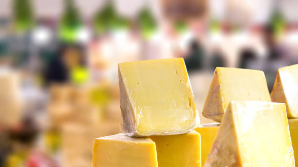 old cheese of turkey Kars region. stock photo