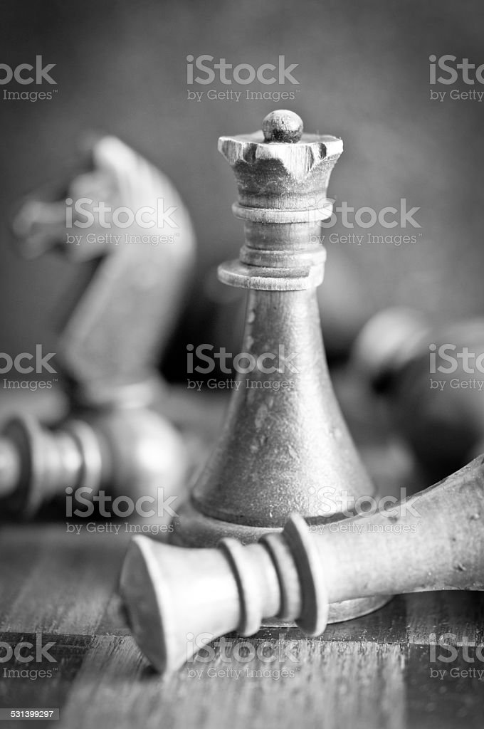 Old chess stock photo