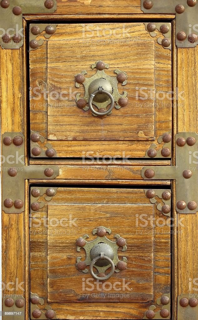Old Chest with Bronze Corners royalty-free stock photo