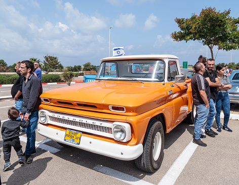 Old Chevrolet Pickup 1965 At An Exhibition Of Vintage Cars