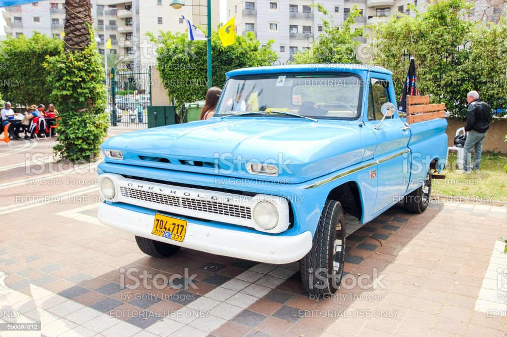 Old Chevrolet Pickup At An Exhibition Of Old Cars In The Kiryat