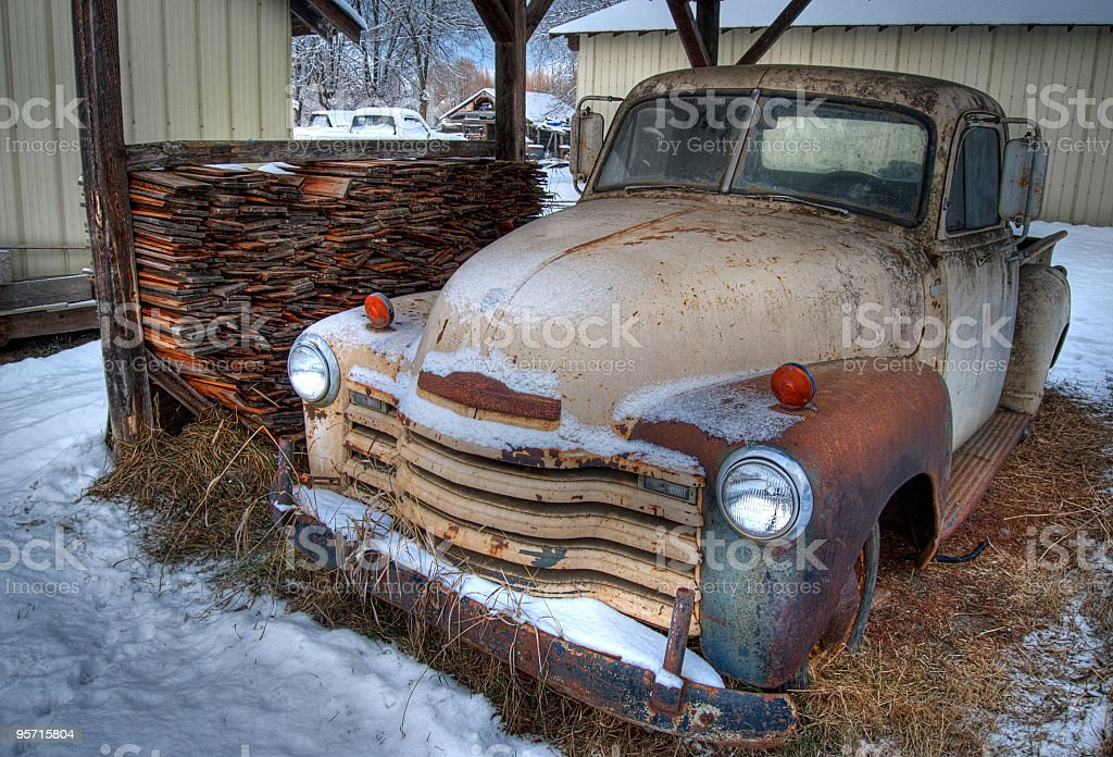 Old Chevy Truck Out At The Farm Stock Photo & More Pictures of ...