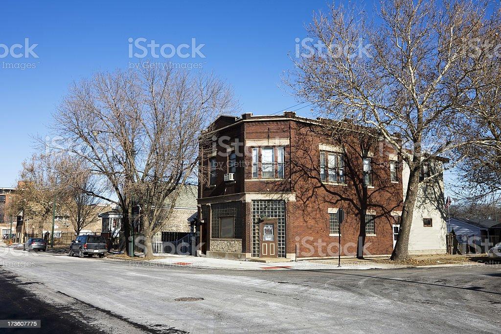 Old Chicago Cornershop royalty-free stock photo