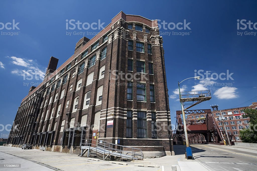 Old Chicago Factory royalty-free stock photo