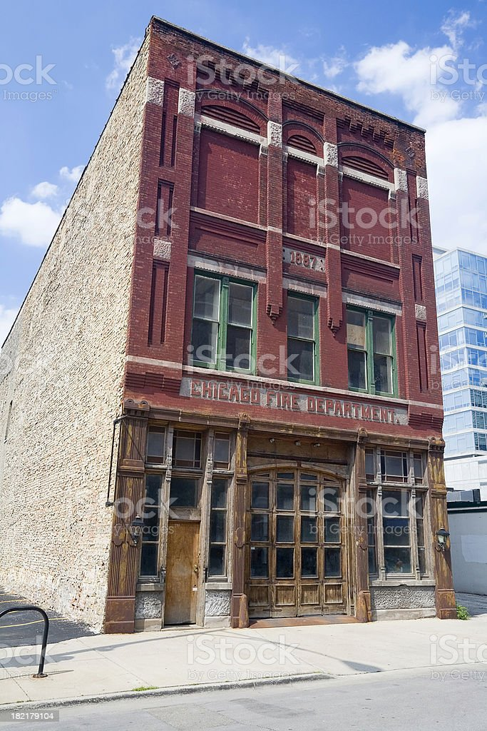 Old Chicago Fire Station royalty-free stock photo
