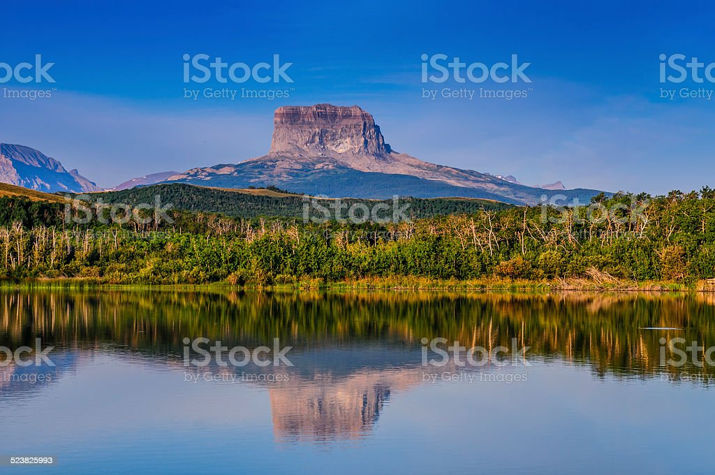 Old Chief Mountain stock photo