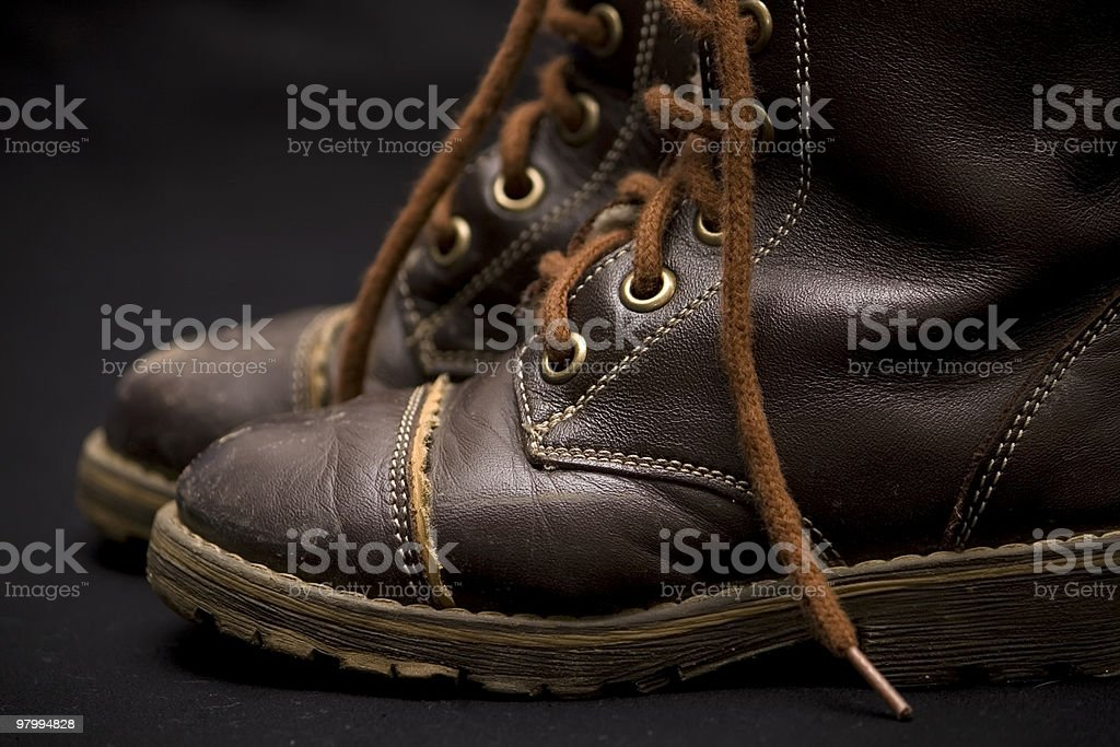 Old child boots royalty-free stock photo